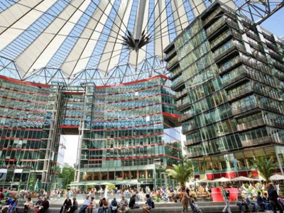 Sony Center: a parte moderna de Berlim.